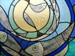 stained glass fish window