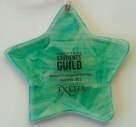 turqouise recycled glass star